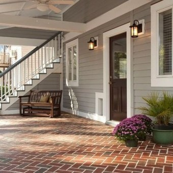 Stunning Exterior Paint Colors Red Brick Ideas 36