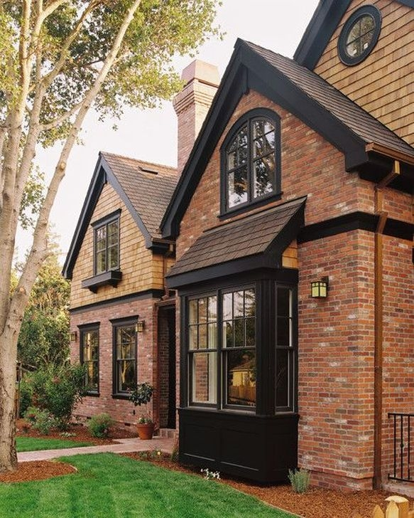 Stunning Exterior Paint Colors Red Brick Ideas 38