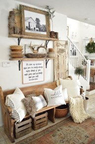 Stunning Farmhouse Entryway Decoration Ideas 10