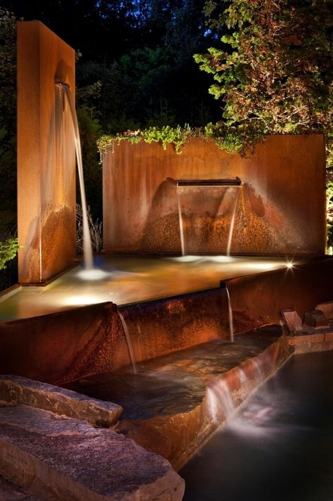 Amazing Modern Water Feature For Your Landscape13