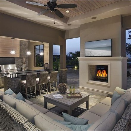 Awesome Outdoor Kitchen Design Ideas 38