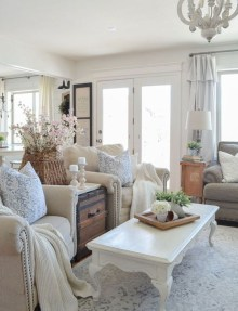 Fantastic Living Room Farmhouse Style Decorating Ideas 34