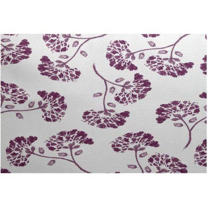 Romantic Floral Printed Rug Ideas To Beautify Your Floor04
