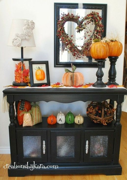 Stylish Console Table For Halloween Ideas 01