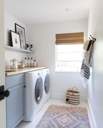 Popular Farmhouse Laundry Room Decorating Ideas36