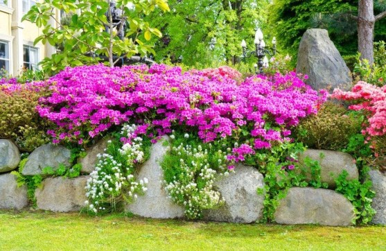 Pretty Front Yard Rock Garden And Landscaping Ideas09