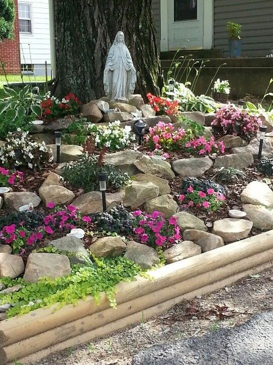 Pretty Front Yard Rock Garden And Landscaping Ideas45