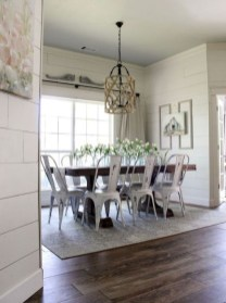 Romantic Rustic Farmhouse Dining Room Makeover Ideas17