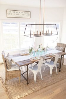 Romantic Rustic Farmhouse Dining Room Makeover Ideas46