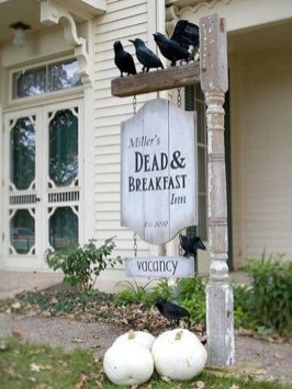 Unique Crafty Diy Outdoor Halloween Decorating Ideas15
