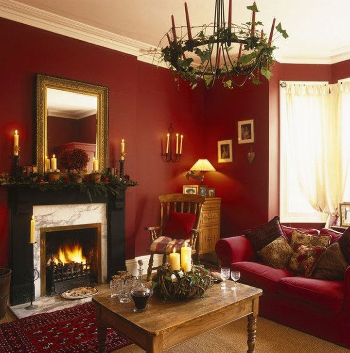 Comfy Christmas Living Room Decor Ideas35