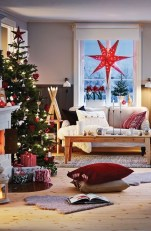 Comfy Christmas Living Room Decor Ideas39