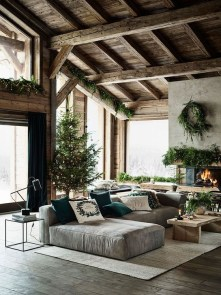 Comfy Christmas Living Room Decoration Ideas33