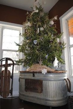 Gorgeous Rustic Christmas Tree Decoration Ideas16