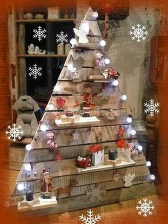 Gorgeous Rustic Christmas Tree Decoration Ideas24