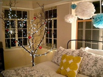 Magnificient Christmas Lighting Bedroom Ideas13