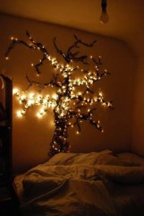 Magnificient Christmas Lighting Bedroom Ideas21