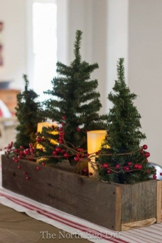 Modern Farmhouse Christmas Tree Ideas43
