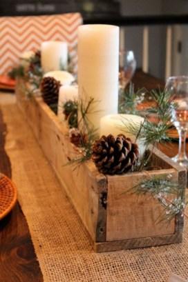 Romantic Rustic Christmas Decoration Ideas25