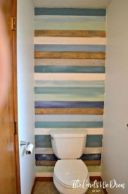 Cozy Coastal Style Nautical Bathroom Designs Ideas34