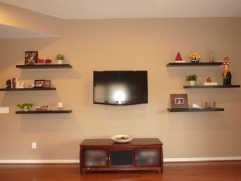 Stunning Diy Floating Shelves Living Room Decorating Ideas01