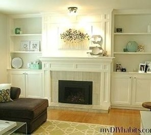 Stunning Diy Floating Shelves Living Room Decorating Ideas15