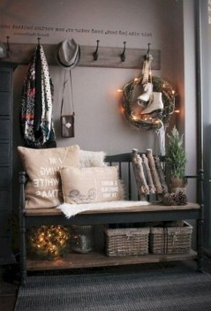 Awesome Rustic Mudroom Bench Decorating Ideas On A Budget36