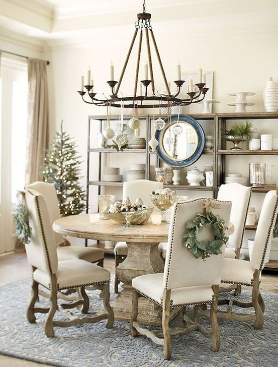 Captivating Farmhouse Dining Room Table Decorating Ideas23