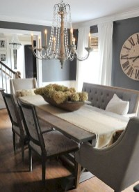 Captivating Farmhouse Dining Room Table Decorating Ideas41