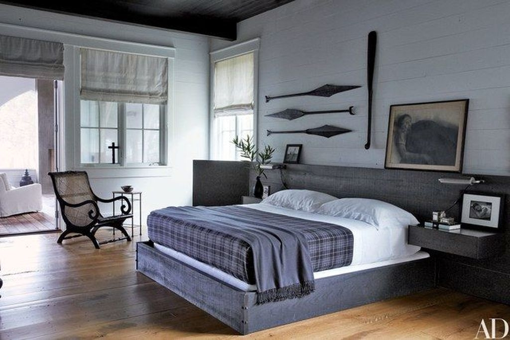 Comfy Urban Farmhouse Master Bedroom Design Ideas46