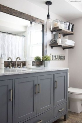 Cute Farmhouse Bathroom Remodel Ideas On A Budget09
