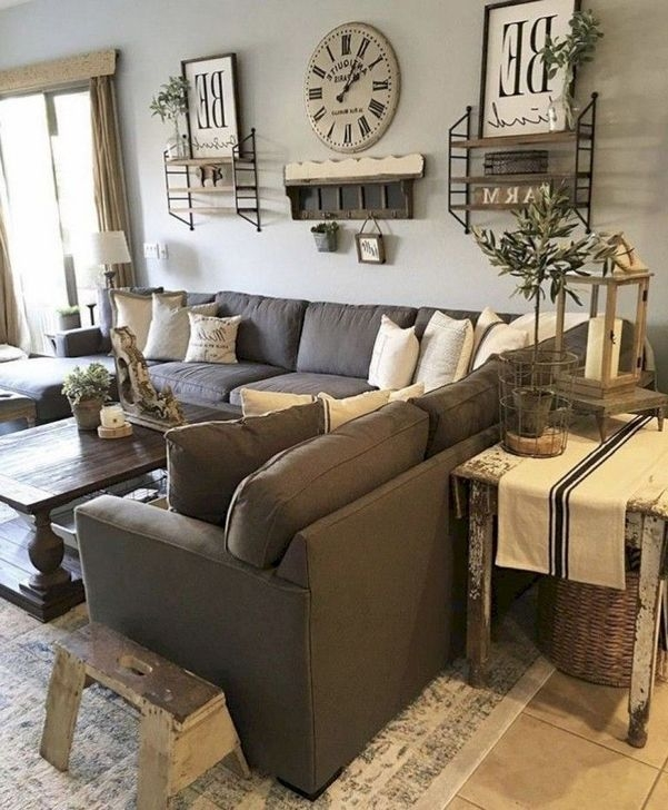 Splendid Farmhouse Living Room Design Decor Ideas09