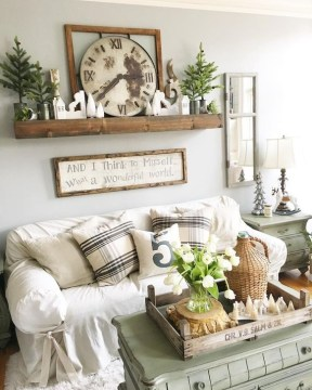 Splendid Farmhouse Living Room Design Decor Ideas39