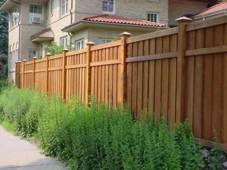 Stylish Wooden Privacy Fence Patio Backyard Landscaping Ideas32