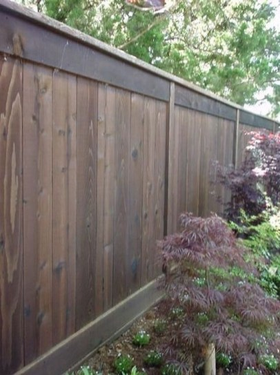 Stylish Wooden Privacy Fence Patio Backyard Landscaping Ideas33