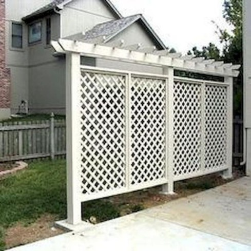 Stylish Wooden Privacy Fence Patio Backyard Landscaping Ideas34