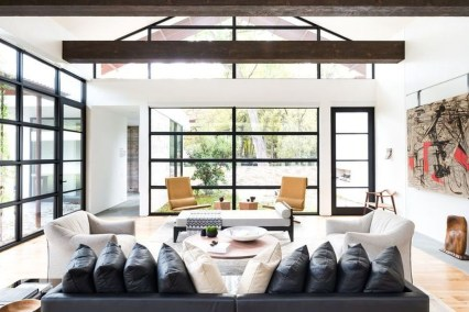 Amazing Living Rooms Design Ideas With Exposed Wooden Beams 36