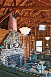 Amazing Living Rooms Design Ideas With Exposed Wooden Beams 40