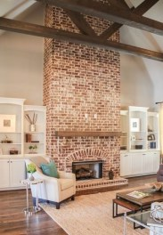 Amazing Living Rooms Design Ideas With Exposed Wooden Beams 43