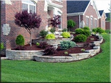 Enchanting Front Of House Landscaping Ideas22