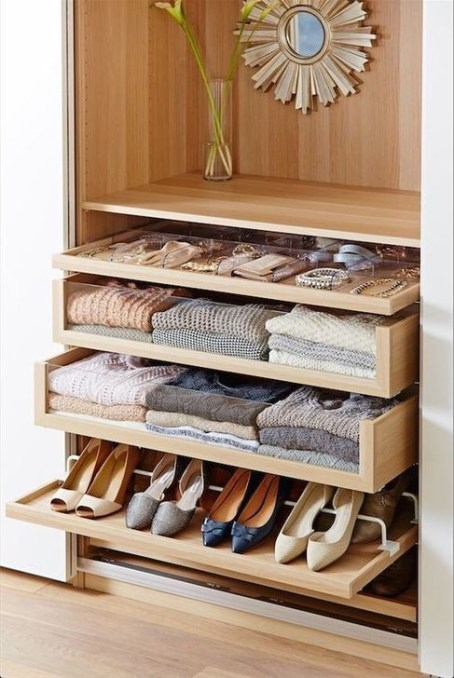 Impressive Walk In Closet Organization Ideas42