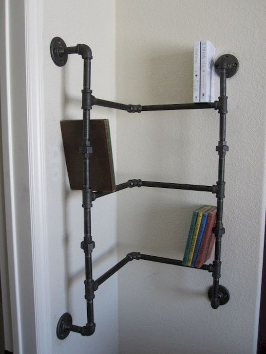 Inexpensive Diy Pipe Shelves Ideas On A Budget16
