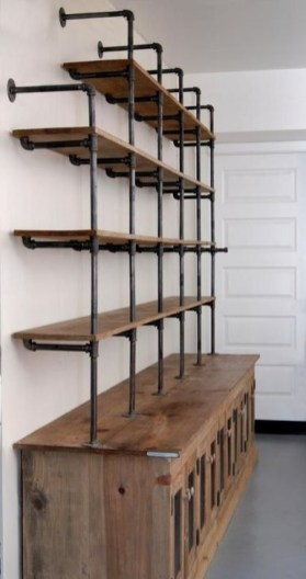 Inexpensive Diy Pipe Shelves Ideas On A Budget29