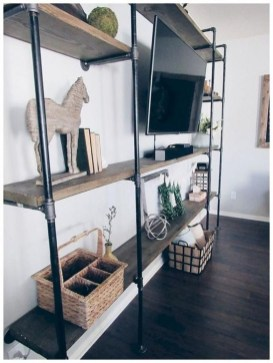 Inexpensive Diy Pipe Shelves Ideas On A Budget37
