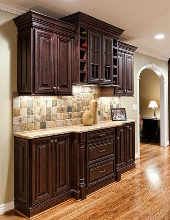 Magnficient Small Kitchens Ideas With Dark Cabinets05