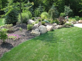 Wonderful Grass Landscaping Ideas For Home Yard21