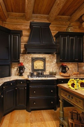 Amazing Kitchen Color Scheme Ideas For Dark Cabinets 34