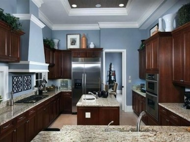 Amazing Kitchen Color Scheme Ideas For Dark Cabinets 37