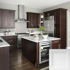 Amazing Kitchen Color Scheme Ideas For Dark Cabinets 45