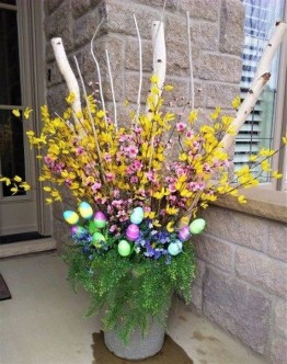 Charming Easter Ideas For Outdoor Decorations 07